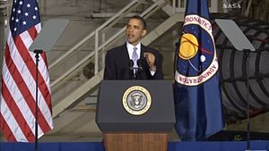 English: Speech of Barack Obama at KSC.